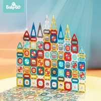 BabyGo 82 Uds juego de construcción magnética niños imán de construcción de juguete ABS bloques magnéticos rompecabezas juguetes educativos para niños regalo