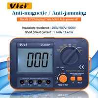 Vici VC60B + medidor de resistencia de aislamiento digital probador megohmmetro ohmmetro voltímetro DVM 1000V 2G con retroiluminación LCD