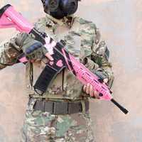 Los niños al aire libre eléctrico Blaster pistola de agua de juguete M416 Rifle de francotirador ametralladora suave Gel bola bala armas de juguete de Navidad regalos
