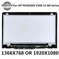 Original 14 ''IPS LCD de montaje de digitalizador con pantalla táctil + marco B140XTN02.E N140HCE-EBA para HP PAVILION X360 14M-BA 14-ba serie
