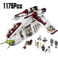 05041 Wars en Star Toy República Gunship Set StarWars compatible con Legoinglys barco para niños bloques educativos regalo Niño