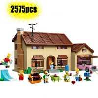 83005 (16005) les Simpsons maison bloc de construction modèle briques pour 2575 pièces enfant jouet cadeau Compatible legoinglys 71016 cadeau brithday