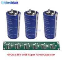 6 piezas 2,85 V 700F 35*72mm pies planos condensador Super Farad bajo ESR súper condensador para coche sin soldadura con tablero de protección de equilibrio