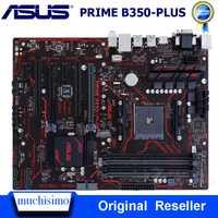 Socket AM4 DDR4 ASUS PRIME B350-PLUS carte mère AMD B350 DDR4 64GB PCI-E 3.0 USB3.1 M.2 Original bureau utilisé carte mère DDR4