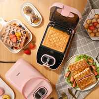 220V 650W máquina de sándwich casera multifuncional Donut waffle del fabricante de bocadillos Donut