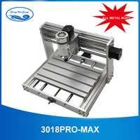 CNC 3018pro-métal avec ER11 GRBL contrôle avec broche 200 W, fraiseuse de carte pcb 3 axes, bricolage bois routeur support gravure laser