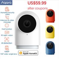Aqara G2H caméra intelligente 1080P HD passerelle édition Vision nocturne Mobile pour Apple HomeKit APP Zigbee sécurité à domicile 4 couleurs
