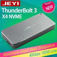Boîtier mobile JEYI thunderbolt 3 m.2 nvme boîtier boîtier NVME à TYPE-C en aluminium TYPE C3.1 m. 2 USB3.1 M.2 PCIE U.2 SSD LEIDIAN-3