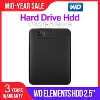 Western Digital WD elementos portátil HDD externo 1TB 2TB hdd 2,5
