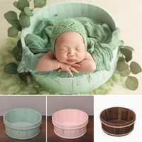 3 couleurs nouveau-né accessoires en bois posant des paniers pour la photographie accessoires bébé photographie bébé posant Shoot Vintage nouveau-né accessoire