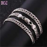 S925 Collar de plata cadena látigo Rojo red dominadora personalidad de hombre de moda cadena larga de plata para hombres Collar de plata