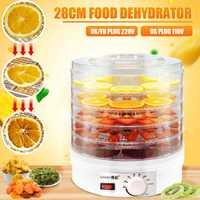 Máquina deshidratadora de alimentos para el hogar de 28 CM, deshidratadora de frutas y verduras secas, deshidratadora de alimentos para mascotas, 5 bandejas de aperitivos, secador de aire EU US UK