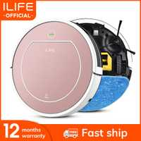 ILIFE V7s Plus Robot aspirateur balayage et nettoyage humide désinfection pour sols durs et tapis course 120 minutes Charge automatiquement