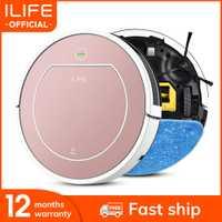 ILIFE-aspirateur Robot Plus V7s, aspiration de la poussière pour tapis et moquettes, nettoyage humide et désinfectant pour sols durs, 120 mn de marche autonome, recharge automatique
