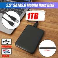 2.5 disque dur externe USB3.0 HDD HD disque dur 1 to/2 to Mobile disque dur HDD périphériques de stockage pour mac ordinateur de bureau ordinateur portable