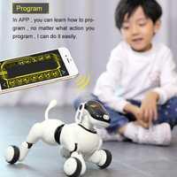 Robot chien voix et App contrôlé Robot AI chien jouets interactifs danses chante joue musique tactile jouets de contrôle de mouvement pour les enfants