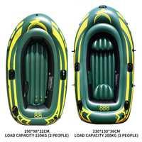 Barco de pesca inflable de 3 personas PVC grueso resistente al desgaste kayak de goma canoa remo Barco de aire a la deriva surf buceo barco caliente