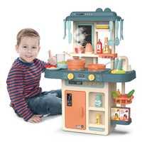 Juego de simulación de cocina para chico, juego de juguete de cocina con luz y música, juguetes de cocina con espray 42 Uds. Accesorios, regalo de juguete de cocina