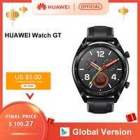 En Stock Version mondiale HUAWEI montre GT montre intelligente 1.39 ''écran AMOLED 14 jours d'autonomie 5ATM étanche traqueur de fréquence cardiaque
