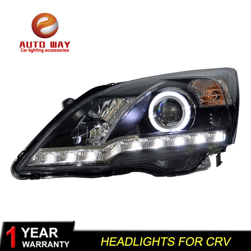 BFX US $488.00 Car Styling Head Lamp case for Honda CRV 2007-2011 Headlights LED Honda CR-V Headlight DRL Double Beam Bi-Xenon HID