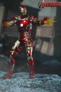 1/12 escala los Vengadores Super Flexible Iron Man MK43 figura de acción modelo coleccionable juguetes de Navidad para niños colección