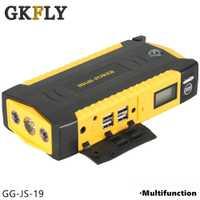 GKFLY haute capacité voiture cavalier démarreur batterie externe 600A 12V Portable démarreur de voiture dispositif de démarrage Booster démarreur avec câbles