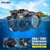 DHL Freeshipping SY-22 40 m/130ft funda impermeable subacuática bolsa de cámara funda protectora para Sony A6300