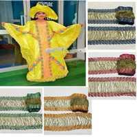 10 yardas perla flor Floral albaricoque bordado borde de encaje cinta apliques parches vestido de boda tela costura artesanía XM08183
