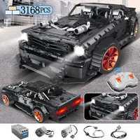 3168 pièces MOC RC Ford Mustang Hoonicorn RTR V2 modèle bloc de construction Legoing Technic course voiture Led briques jouets pour enfants