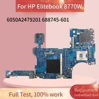 688745-601, 688745-501 placa base para portátil HP Elitebook 8770W placa madre del cuaderno 6050A2479201 SLJ8A DDR3