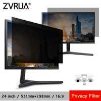 24 pouces (531mm * 298mm) filtre de confidentialité Anti-éblouissement écran LCD film de protection pour 16:9 écran large ordinateur portable PC moniteurs