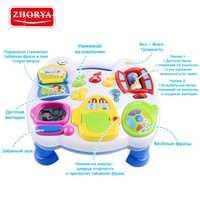 Escritorio de música Zhorya con voz rusa mesa de Aprendizaje Temprano juguetes para niños música y luz bebé niño niña niños regalo