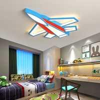 Candelabros creativos de avión techo para habitación de niños dormitorio de bebé candelabro moderno decoración del hogar iluminación de araña led