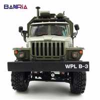 WPL RC camion B36 Ural 1/16 2.4G 6WD télécommande militaire camion Rock chenille voiture passe-temps jouets pour garçons carro eletrico