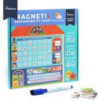 MiDeer en bois magnétique récompense activité tableau de responsabilité calendrier enfants calendrier jouets éducatifs pour enfants tableau cible