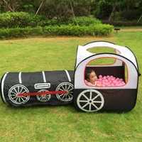 Niños Pop tienda | de interior/al aire libre, casa de juegos para niños pequeños niños y Niñas (tren de locomotora), negro
