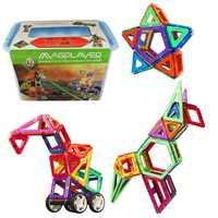 48-88 Uds. Mini juego de construcción magnética modelo de juguetes bloques de construcción de plástico magnético juguetes educativos para niños