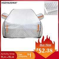 HOZYAUSHKA quatre saisons film en aluminium plus coton rembourré voiture vêtements voiture imperméable pluie et neige bâche de voiture