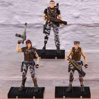 Hiya Aliens Colonial Infantes de Marina Cruz Bella Redding Escala de 1:18 PVC figura de acción modelo coleccionable juguete Soliders regalo 3 unids/set