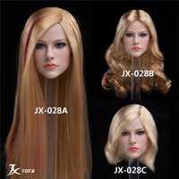 1/6 JXTOYS-028 mujer chica Sexy Europea americana belleza cantante Avril cabeza esculpir tallado para 12