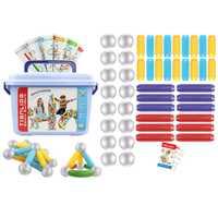 42 Uds., juguetes educativos para niños, barras de construcción magnéticas DIY, palos de bloque magnético, juego de juguetes educativos-L