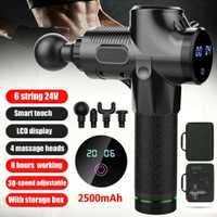 Herramienta de pistola de masaje de percusión nueva 4 cabezales 30 velocidades masajeador de terapia corporal de vibración S66