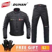 DUHAN Moto vestes hommes équitation Motocross Enduro course veste Moto veste coupe-vent Coldproof Moto vêtements Protection