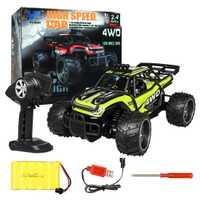 1:16 2,4G RC vehículo todoterreno de alta velocidad potente Motor anticolisión coche de juguete de Control remoto para niños regalo de cumpleaños-verde rojo