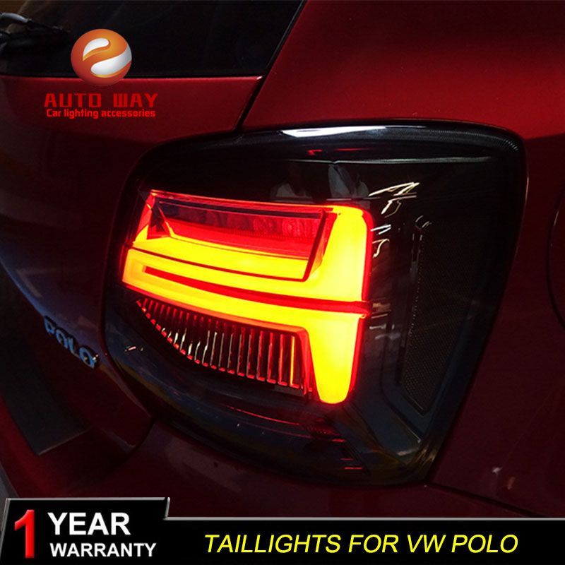 QHP US $247.50 Car Styling Tail Lights Taillights case for Volkswagen VW Polo MK5 2011-2017 VW Polo Tail Lights LED Taillghts LED Rear Lamp