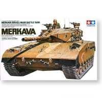 Tamiya, 35127, 1/35, escala, Merkava israelí, tanque de batalla principal, muestra, juguete coleccionable, conjunto de construcción de plástico, Kit de modelo