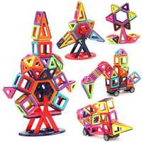 216 Uds tamaño estándar 3D magneticos de diseño de construcción juguetes y bloques de construcción DIY juguetes magnéticos educativos