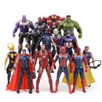 Figuras de la guerra Infinity de Los Vengadores 14 unids/set Thanos Iron Man Capitán América Thor Hulk y Loki figura de acción de juguete