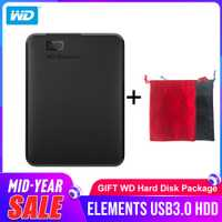 Disque dur Portable Western Digital WD Elements 1 to 2 to 4 to disque dur externe 2.5 pouces disque dur USB 3.0 Original pour ordinateur Portable