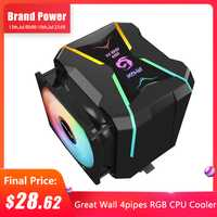 Gran Pared enfriador de CPU RGB 4 tubos 90mm Dual Fans del radiador para Intel LGA 1150, 1151, 1155, 1156 LGA 775 AMD AM4 AM3 FM2 de refrigeración de la CPU